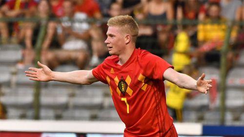 Kevin de Bruyne, durante un duelo amistoso con Bélgica