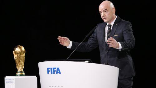 Infantino durante el Congreso de FIFA en Rusia