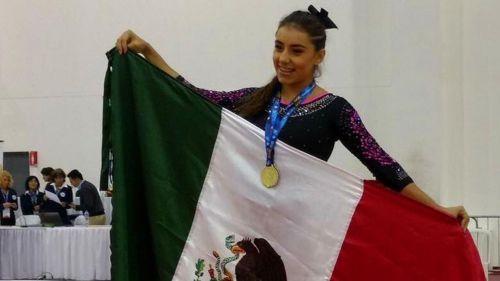 Ahtziri Sandoval en una competencia celebrada en Lima, Perú