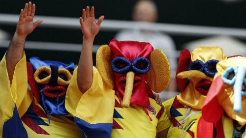 Aficionados de Colombia apoyan a su equipo en Rusia 2018
