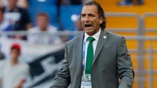 Pizzi, en un partido mundialista de Arabia Saudita