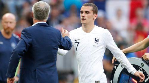Griezmann sale de cambio en el duelo de Francia contra Dinamarca