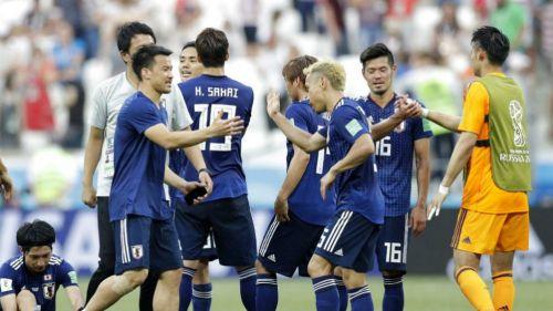 Jugadores de Japón después del partido