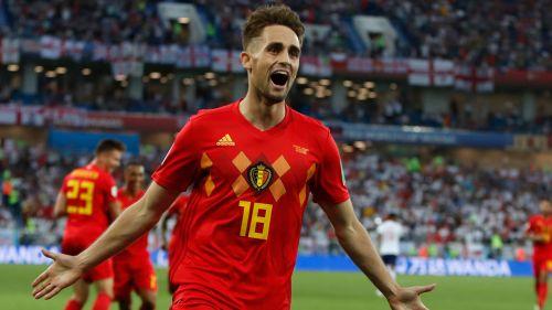 Januzaj celebra su gol con Bélgica