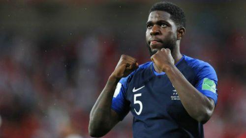 Umtiti festeja gol de Francia