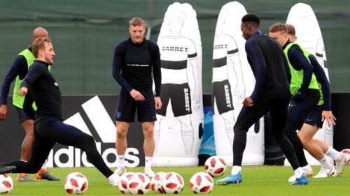 Inglaterra entrena previo al duelo contra Croacia