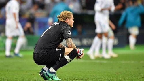 Loris Karius, al término del partido contra el Real Madrid