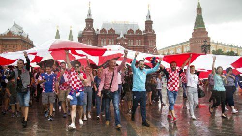 Afición de Croacia previo al duelo contra Inglaterra