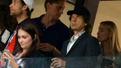Mick Jagger, en uno de los palcos del Estadio Luzhniki