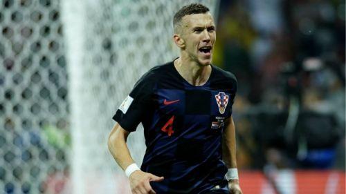 Ivan Perisic festeja su gol contra Inglaterra en Rusia 2018