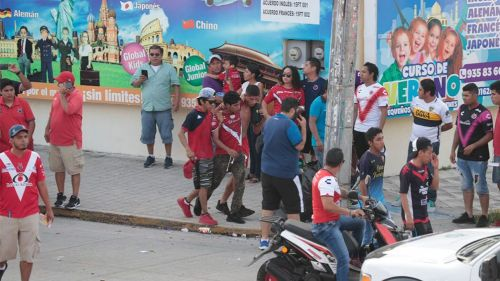 Aficionados de Veracruz después de la pelea