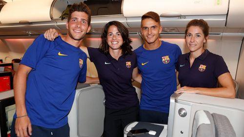Barcelona genera polémica por vuelo mixto de jugadores