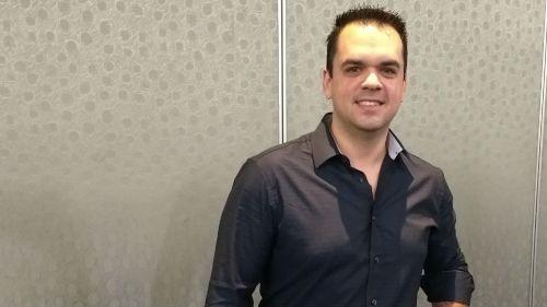 Joe Mendoza durante la conferencia de prensa de LUX Fight League 3