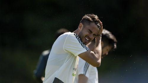 Diego Reyes en entrenamiento con la Selección Mexicana