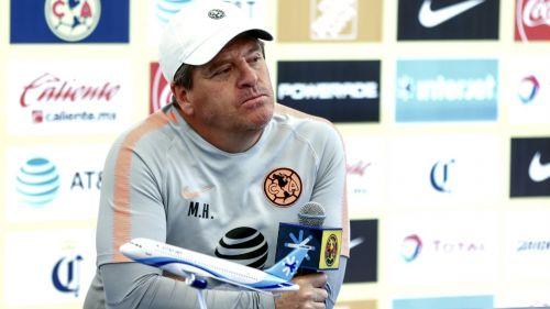 Miguel Herrera, durante una conferencia de prensa