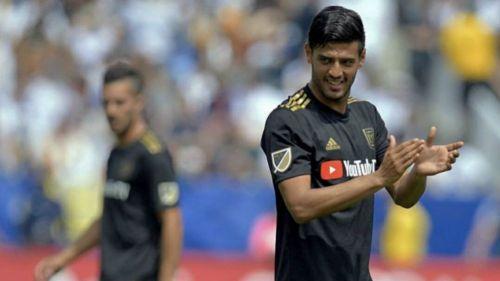 Carlos Vela durante un partido de Los Ángeles FC