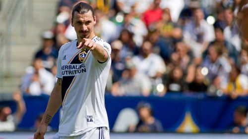 Zlatan, durante juego con el LA Galaxy