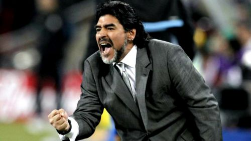 Maradona, en su paso por el banquillo de Argentina