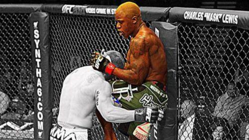 Melvin Guillard durante un combate de UFC