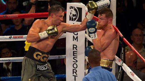 Canelo y GGG durante la primera pelea