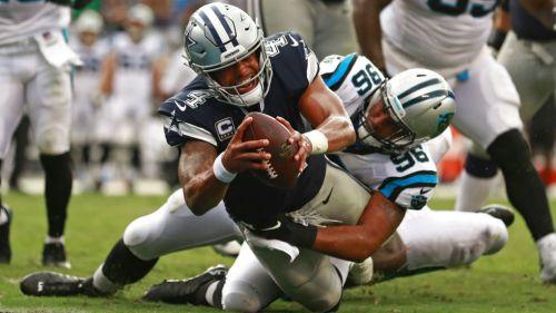 Newton y defensiva de Panthers vencen a Cowboys
