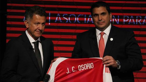 Juan Carlos Osorio, en su presentación como técnico de Paraguay
