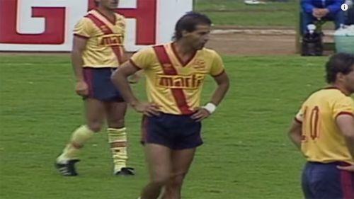 Figueroa, en el juego de Ida de la Semi vs América en la temporada 1987-1988