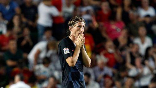 Modric en partido de Croacia contra España