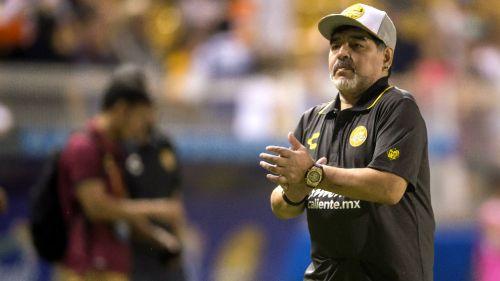 Armando Maradona, durante el encuentro contra Cafetaleros