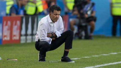 Osorio, durante un partido de México