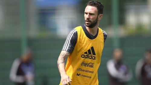 Miguel Layún durante un entrenamiento con el Tricolor