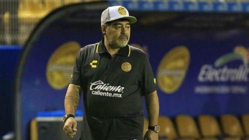 Maradona, en su debut como timonel de Dorados