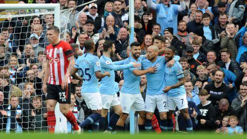 Man City humilla al Southampton y es líder solitario de Premier
