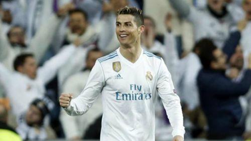Cristiano Ronaldo, durante partido del Real Madrid