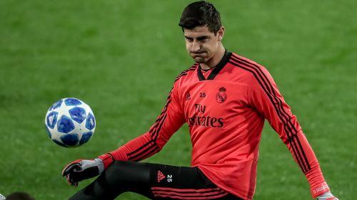 Courtois, en entrenamiento del Real Madrid