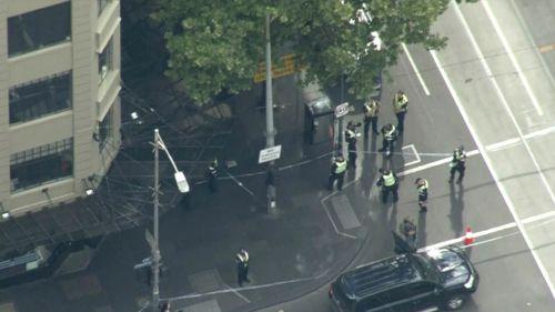 Policías aseguraron la zona en la que se realizó el ataque