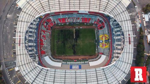 Una vez más, cancha del Estadio Azteca luce en terribles condiciones