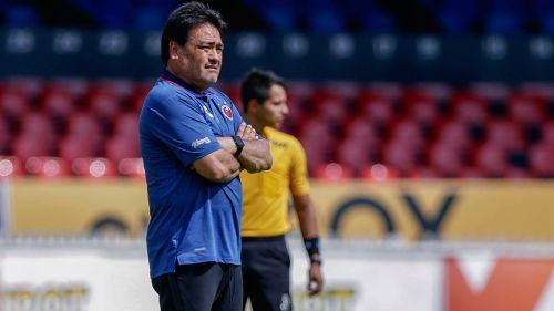 García, durante un partido del conjunto Sub 20 de los Tiburones Rojos