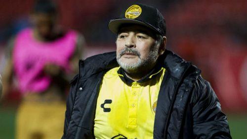 Maradona después de un partido de Dorados