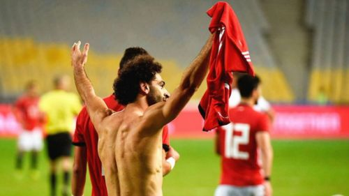 Mohamed Salah festeja el triunfo de Egipto vs Túnez