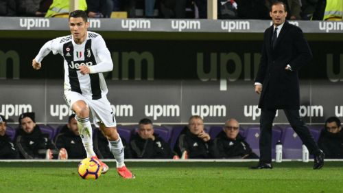 Cristiano, durante partido de la Juventus en la Serie A
