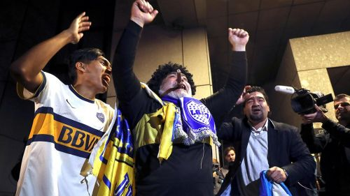 Aficionados del Boca Juniors en Madrid