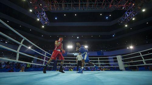 Un combate de boxeo en Barranquilla 2018