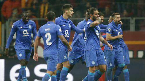 Porto festejando su victoria ante el Galatasaray