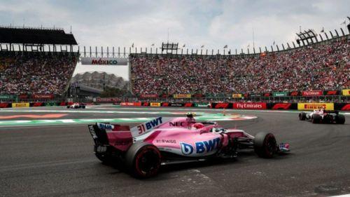 Checo Pérez, en el GP de México 2018