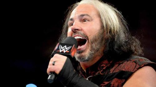 Matt Hardy durante un show de la WWE