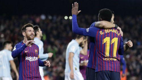 Barcelona y Celta de Vigo se enfrentan en un partido de enrachados