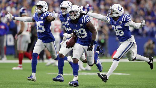 Locura entre los Colts tras ganar a los Giants