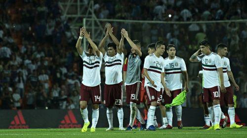 Seleccionados mexicanos en el juego vs Argentina