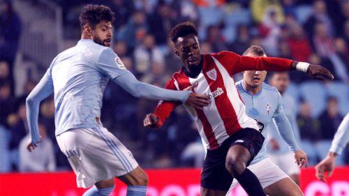 Néstor Araujo, en el juego contra el Athletic de la J18 de La Liga